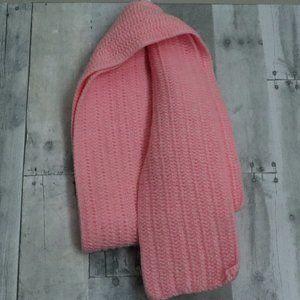 HANDMADE Knit | Pink Crochet Winter Regular Scarf